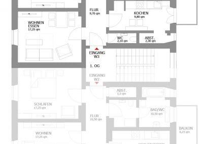 Gästewohnung A24 W3 Grundriss