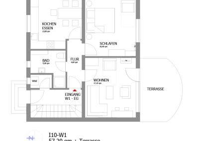 Gästewohnung I10 W1 Grundriss
