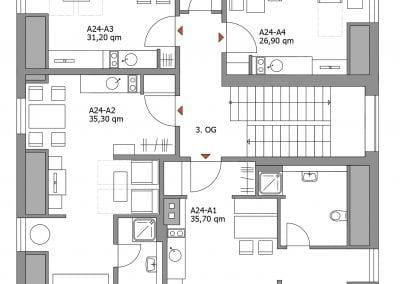 Gästewohnung A24 A1-A4 Grundriss
