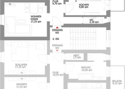 Gästewohnung A24 W5 Grundriss