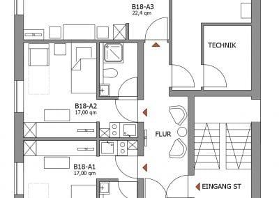 Gästewohnung B18-A1-A3 Grundriss