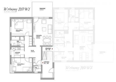 Gästewohnung B18 W1 Grundriss